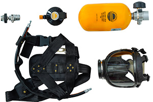 Recharge hose for SCBA Composite cylinder with a duration of 45 minutes